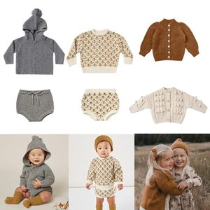 Kids Wool Sweaters 2021 RC Brand New Autumn Winter Boys Girls Fashion Knit Cardigan Baby Children Cotton Outwear Tops Clothes