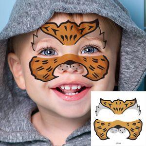 New Body Art Waterproof Temporary Tattoo Stickers Animal Design Fake Tattoo Flash Tattoo Sticker Face Makeup For Kids 100 pcs DHL