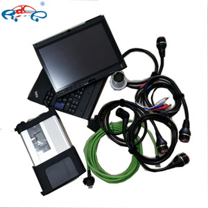 MB Star C5 SD Connect car truck with Soft-ware V12 2020 in 360GB SSD X201T Laptop for Mercedes cars Auto Diagnostic Tools