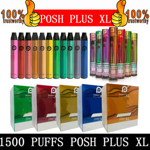 Posh Plus XL Dispositivo Dispositivo de Vape 1500Puffs 650mAh Power Bateria PODS Pre-Cheio Vopors Vapor Disable E Cigarros