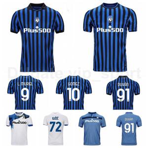 20 21 축구 Atalanta 9 Luis Muriel Jersey 91 Duvan Zapata 10 Alejandro Gomez 72 Josip Ilicic 8 Robin Gosens 축구 셔츠 키트