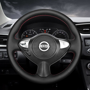 Applicable to Nissan 16-19 21 new Xuanyi classic suede 12-14 Xuanyi steering wheel cover hand sewn leather