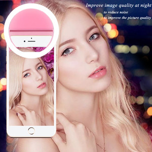 LED Ring Flash Mobile Phone Selfie Night Clip Light Camera Photography Video Spotlight Lens