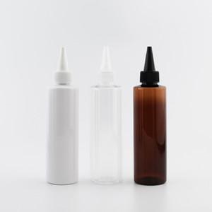 200ml bottiglia di plastica 30pcs lozione con punta Bocca Cap E Liquid imballaggio cosmetico Bottiglie Twist viaggio Lid