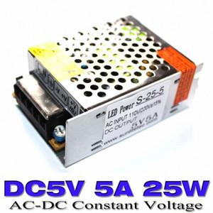 Fuente de alimentación de conmutación al por mayor DC 5V Salida única AC100-240V A DC5V 5A Adaptador de corriente 25W Conductor LED LED para pantalla LED Envío gratis XLYP #