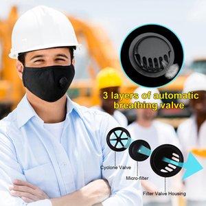 Máscaras Anti-polvo Alergias de gas de humo Ajustable y reutilizable Protejeción reutilizable con 2 filtros para mujeres Hombre adulto negro EWC3077