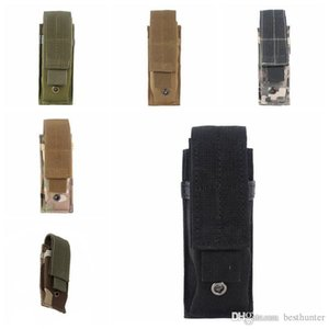 Tactical Molle Pouch Tactical Single Pistol Magazine Pouch Knife Flashlight Sheath Airsoft Hunting Ammo Camo Bags Tactical Waist Packs.