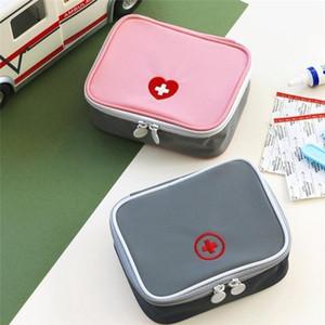 DHL Sacco da primo soccorso di emergenza kit borsa di medicina di viaggio pillola sacchetti di immagazzinaggio esterno di sopravvivenza Organizer Portable Medicina divisore vuoto FY6189