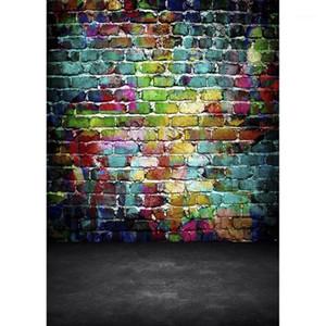 Фото фонов Граффити кирпич настенный компьютер напечатанные фоны для детей детские домашние животные портрета фотофон фотография Props1