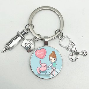 Cute Medical Kechain with Love Heart Angel Key Ring Personality Jewelry Thanksgiving Gift Key Holder for Nurse and Doctor