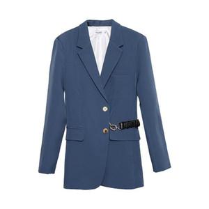 Women Blazer British Style Woman Suit Design Simple Temperament Autumn Winter New Style Waistband Pure Color Suit Jacket Woman