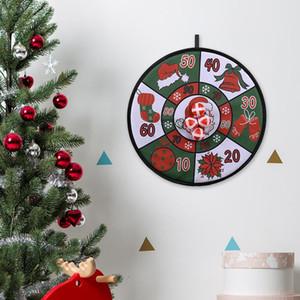 Weihnachtskugeln Dart Board Game Set Weihnachten Kinder Dartscheibe 4 Sticky Balls Sicher Schöne Weihnachten Familie Balls Dartscheibe Sets Ornaments AHA1718