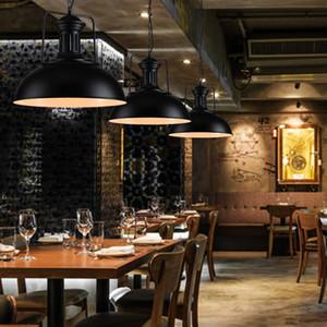 Retro American Country Dining Lampadari Negozio di abbigliamento Ristorante Bar Loft luci colorate Pot Lampadari coperchio