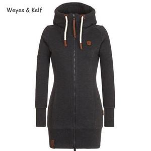 Weyes Kelf S-5XL Plus Size à capuchon Zip-up manches longues Sweats à capuche Femmes Zipper Flim Vendu Sweat-shirt à capuche femmes Kpop 201008