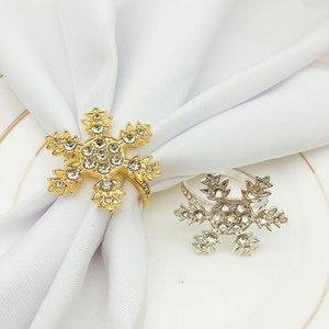 12pcs lot Hotel Christmas golden silver snowflake napkin buckle napkin ring metal ring