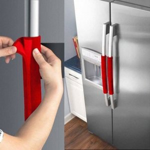 Faroot 2pcs Frigorífico Velvet Porta botão da tampa Handle Covers Mantenha Kitchen Appliance Limpo De Manchas OH6B #