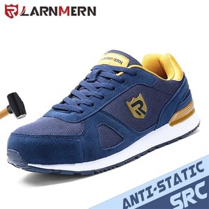 Larnmern Trabalho Sapatos Homens Construção de Aço Botas De Toe Botas Respiráveis Sapatilhas Anti-Estáticas Não-Slip Lightweight Sapatos de Segurança Mulheres 20126