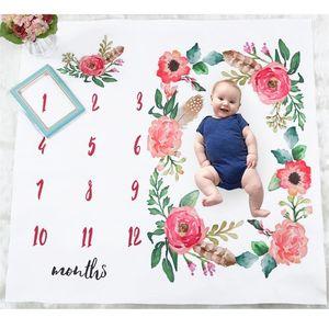 Puseky جديد حديثي الولادة طفل الرضع الكرتون الطفل زاوية الجناح زهرة بطانية للتصوير صور الدعامة يطلق النار 100 * 100 سنتيمتر الدعائم Y201001