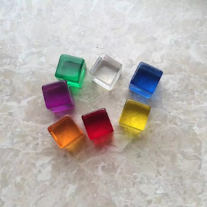 12mm Crystal Blank Dice Mini D6 Square Corner Clear Dice Acrylic Cube Transparent Dices Game Children Educational DIY Toy Multi Colored #B46