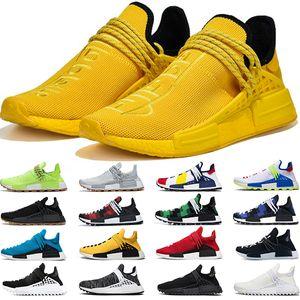 Adidas NMD Human Race Boost Scarpe da corsa da uomo Race Donna Pharrell Williams HU Runner Bianco Nero Giallo Rosso Verde Grigio Blu Sport Sneaker