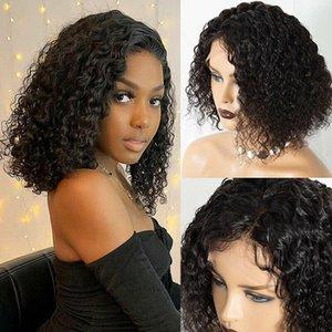 Parrucche di pizzo Brasiliana 200% Density Densità Bretola Bob Water Wave Wave Front Human Human Hair With Baby SDamey Remy Glueless 4x4 Chiusura Parrucca