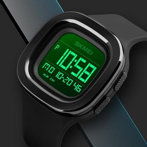 Fashion Sports Digital Watch SKMEI Brand Square LED Mens Watches Chrono Alarm Waterproof Clock Wristwatches relogio masculino