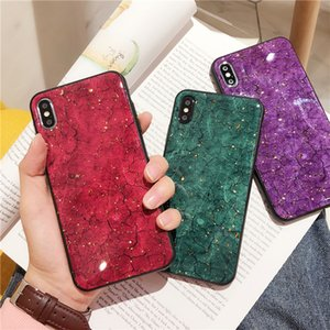 Green Sequins Marble Phone Case for Iphone Max Xr Glitter Soft Silicon Case for Iphone 7 8 Plus 11 pro max