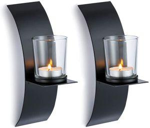 2 Pcs Wall Candle Sconces Holder Decor Handmade Hanging Home Candlestick Holders Shelf Furnishing Articles Decoration