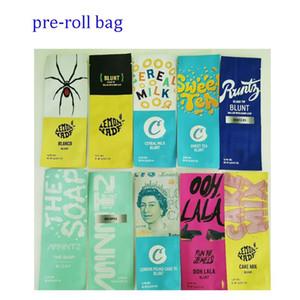 Cookies Runtz Pre Rolling Emballage Blunts Touch Skin 2G Mylar Sac Blunt Zimlock Sacs Mintz Pre Roll Packaging 10 types avec autocollants