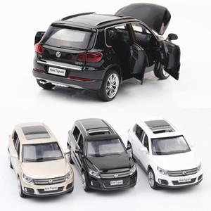 Diecast Tiguan Zink-Legierung Auto-Modell-Ton-und Licht-Pull-Back For Kinderspielzeug Auto Diecast Spielzeug Vehicl Heiße Verkäufe