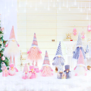 Nuevos regalos de Navidad Gnomos retráctil sin rostro de la muñeca decoración de Navidad creativa de Navidad Decoración por la Ventana de Navidad Suministros XD24131