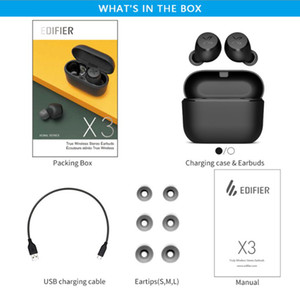 Original Xiaomiyoupin New EDIFIER X3 TWS Wireless Bluetooth 5.0 Earphone Touch Control Voice Assistant In-ear Earbuds Support aptX Headset