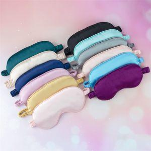 Drop shipping New Silk Sleep Masks Rest Shading Eye Mask Padded Shade Cover Eyepatch Travel Relax Aid Blindfolds Eyemask