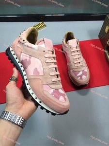 Mit Box Luxury Design Stud Sneaker Schuhe Hohe Qualität Frauen, Männer Freizeitschuhe Runner Trainer Party Hochzeitsschuhe Größe 35-45