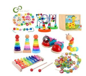 لعب الطفل ألعاب تعليمية ألعاب خشبية مونتيسوري التعلم المبكر الطفل عيد الميلاد عيد الميلاد هدية السنة الجديدة لعب للأطفال gyh
