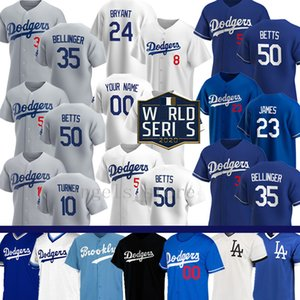 Personalizado 50 Mookie Betts Cody Bellinger Baseball Jersey Los Clayton Kershaw Angeles Justin Turner Corey Seager Dodgers Max Muncy Bryant Bryant