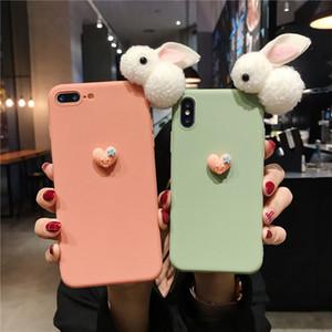 Cute Rabbits Mobile Phone Case For Huawei P8 P9 P10 P20 P30 Lite Plus Pro P Smart Z 2019 Back Cover Love