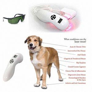 808 수의학 사용 LLLT 콜드 레이저 통증 기계 애완 동물 동물 치료 n8CL 번호를 상처