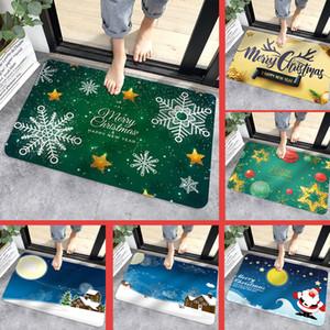 حمام ماتس عيد الميلاد تعزيز الشتاء الباب ماتس مطبخ حصيرة الكرتون الطباعة الفانيلا الكلمة حصيرة عدم الانزلاق حصيرة عيد الميلاد الديكور المنزلي