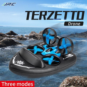 JJRC H36F 3in1 Mini Drone RC Drone Quadcopter Vehicle Hovercraft Boat Kids Toys For Sea Land and Air Dron VS JJRC H36 E010