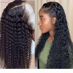 water wave short curly lace front human hair wigs for black women bob Long deep frontal brazilian wig wet and wavy hd full