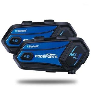 Мотоцикл домофон FODSPORTS M1S PLUS Шлем для 8 всадников Водонепроницаемый Беспроводной Bluetooth гарнитура Intercomunicador Music Sharing1