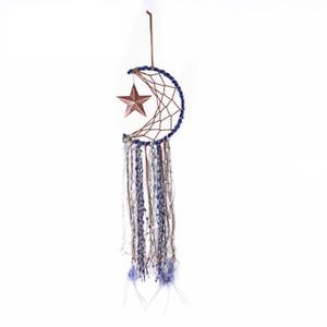 Dreamcatcher Bells Hang Loon Catcher Catcher Dreamcatcher Moda Penas Dream Catceiro Pingente de Parede Pendurado Decoração Decoração Artesanato GWB4297