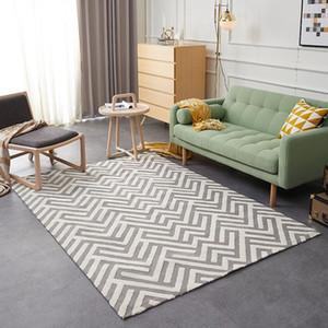 Modern style geometric pattern big size living room carpet, rectangle ground mat , Pastoral home decoration floor mat