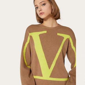 2020 designer de luxo pescoço botões das senhoras das mulheres blusas femininas de manga longa mulheres blusas moda de luxo de roupas mulheres pulôveres