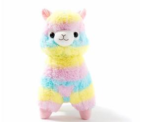 17 centímetros bonito do arco-íris Alpacasso Kawaii Alpaca Llama Arpakasso macio Plush Toy Boneca Stuffed Animals Menino presente de aniversário menina