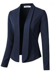 Zogaa 2020 Slim Women Blazer Feminino Mujeres Trabajo Oficina Lady Suit Slim Ninguno Button Negocio Femenino Casual Blazers and Jackets1