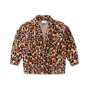 girls 2021 new leopard print cardigan fashion girls coats kids coat kids cardigan designers clothes kids coats girls clothes B3414 2Y5M