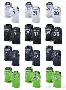 Jóvenes para mujerMinnesotaLobos7 BELL 20 JOSH OKOGIE 31 KEITA BATES-DIOP Blanco Green Navy Customs Basketball Jerseys