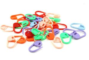 100 pcs / sac 23 mm Crochet de verrouillage en plastique à tricoter Point Marqueurs Crochet Loquet à tricoter Outils aiguille Crochet Clip couture outil